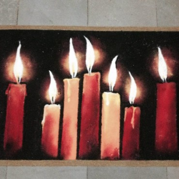 rangoli of canddles