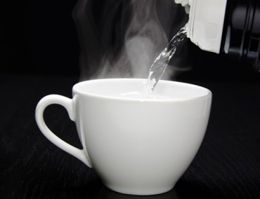 Drinking-hot-water