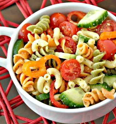 Tri Colored pasta salad pinterest