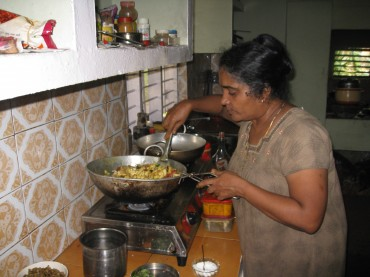 Kriti aunty cooking