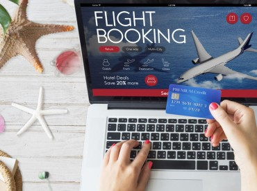 Air Ticket Flight Booking Concept
