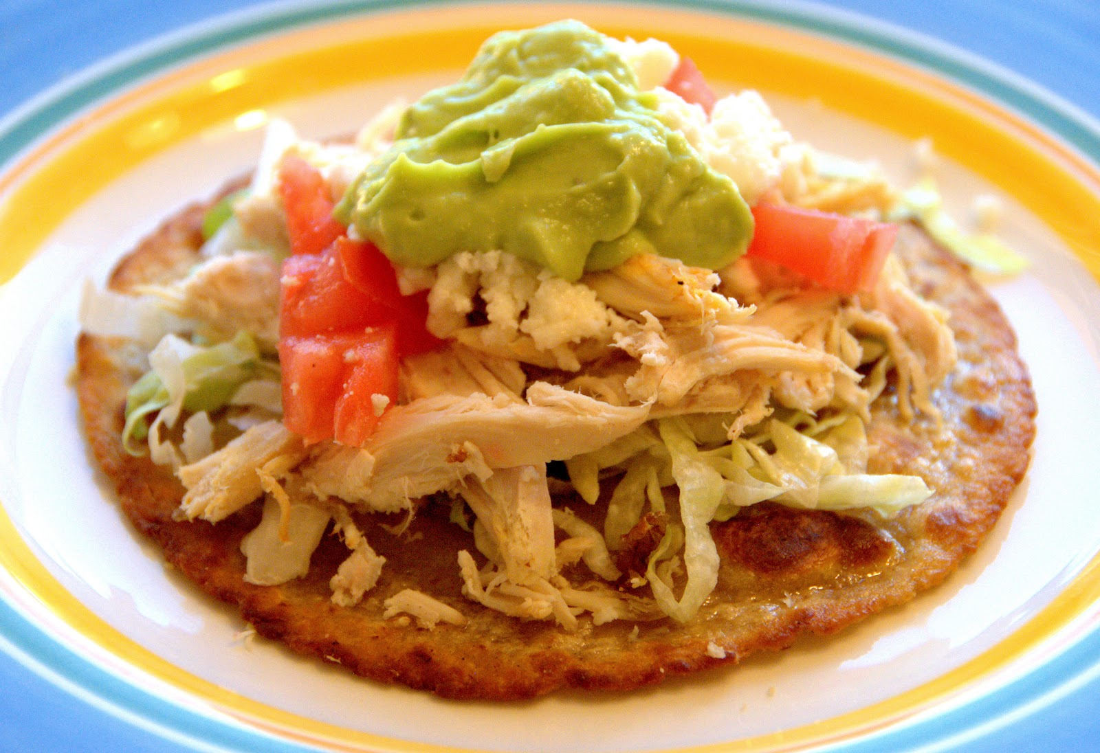 chicken tostadas chicken tostadas with slow grilled chicken tostadas ...
