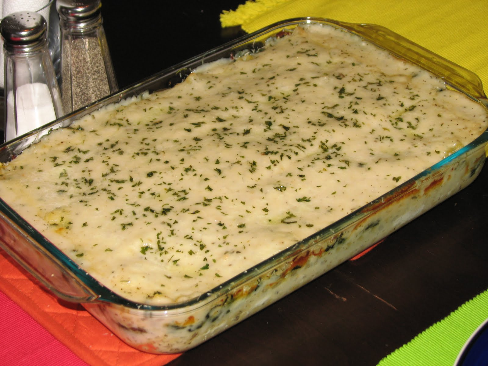 White Cheese With Chicken Lasagna