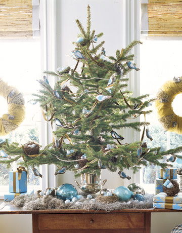 spruce use white paint to spray small artificial trees which can. Black Bedroom Furniture Sets. Home Design Ideas