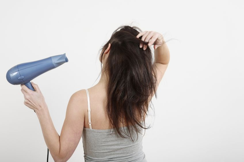Image result for hair dryer using