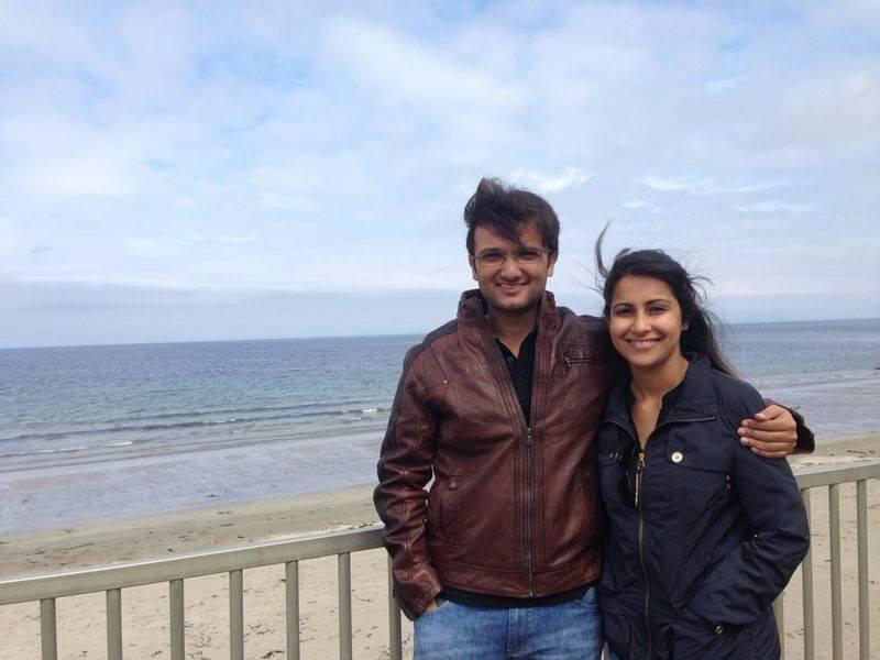 Heena with husband Ronak