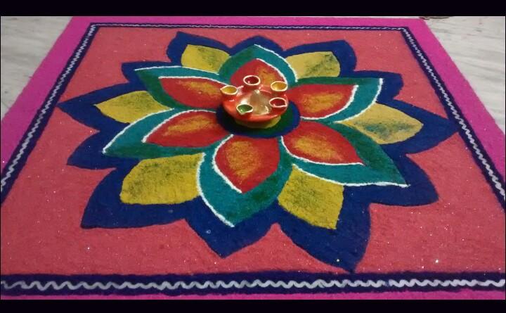 Rangoli by Ishika Aggarwal