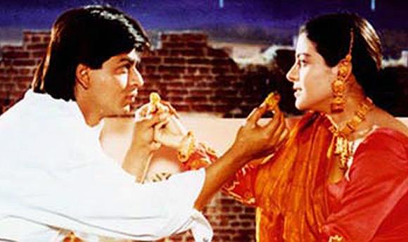 SRK & Kajol in DDLJ celebrating Karva Chauth