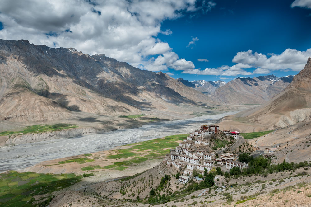 Spiti valley monestry arial view