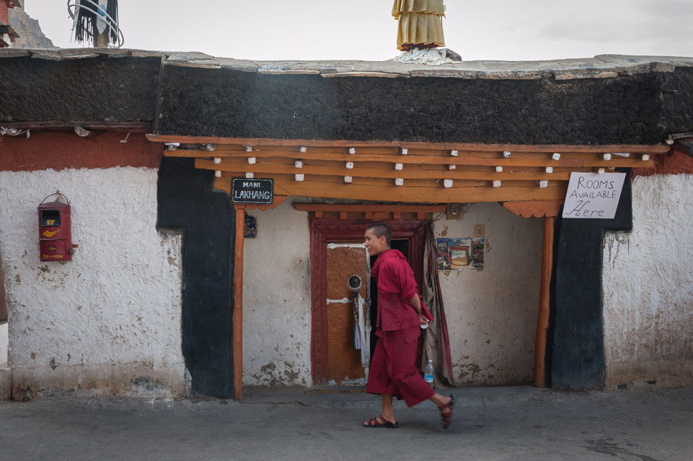 monk in Spiti Valley