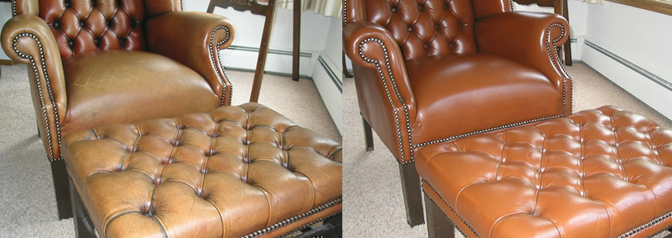 restoring old Leather chair