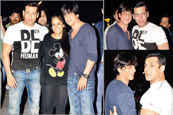 salman and shahrukh at wedding