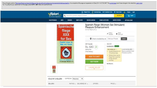 flipkart sex drug 2