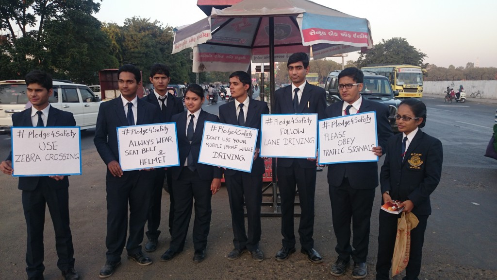 Students at Road safety week