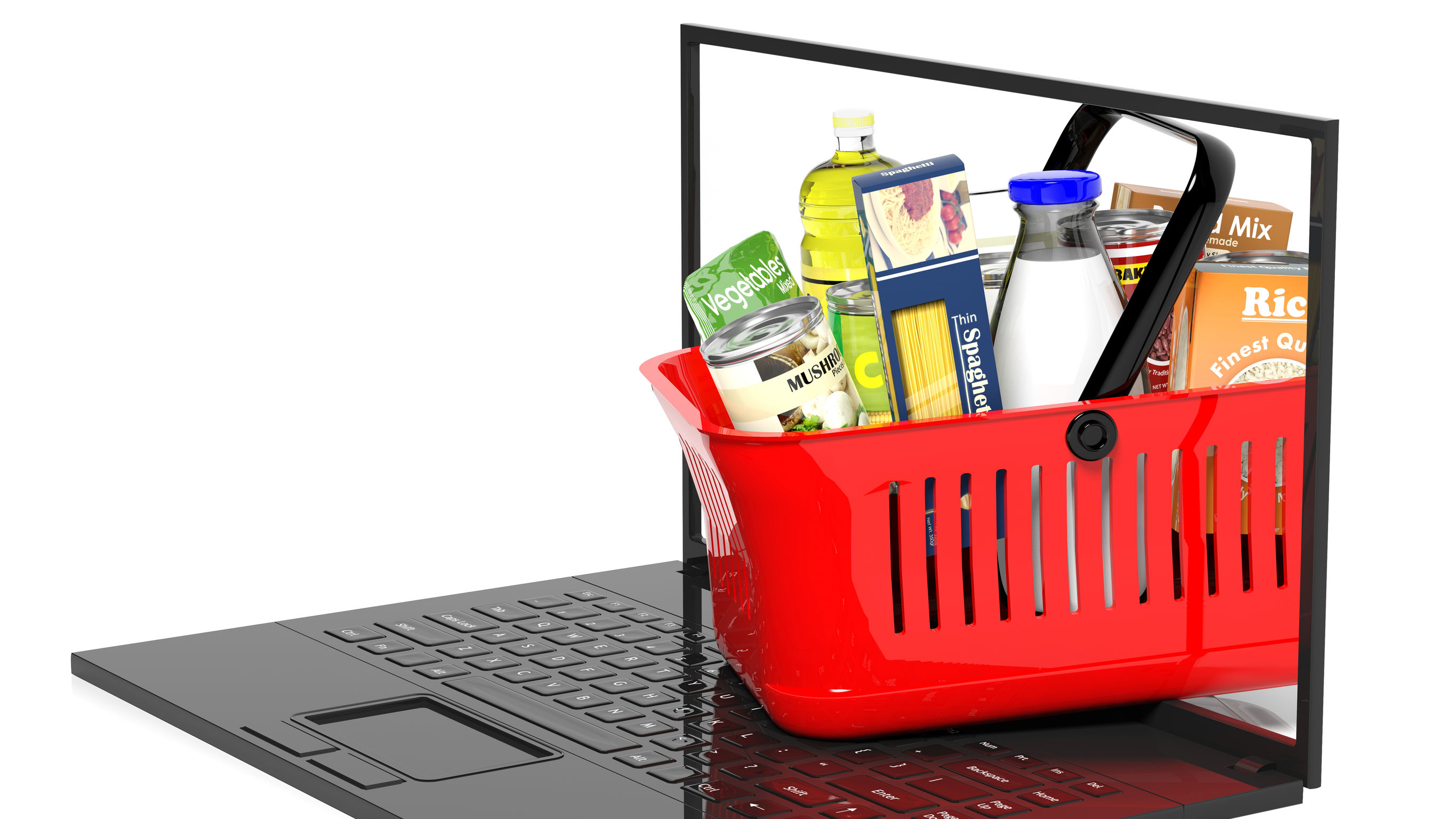 Online shopping of food