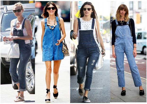 denim over-alls