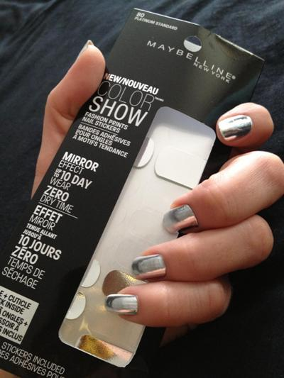 mirror nail polish maybelline