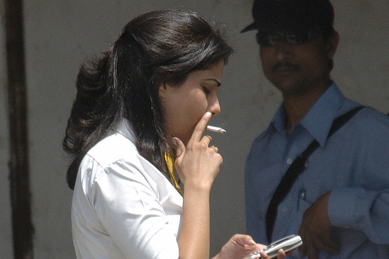 educated woman tobacco