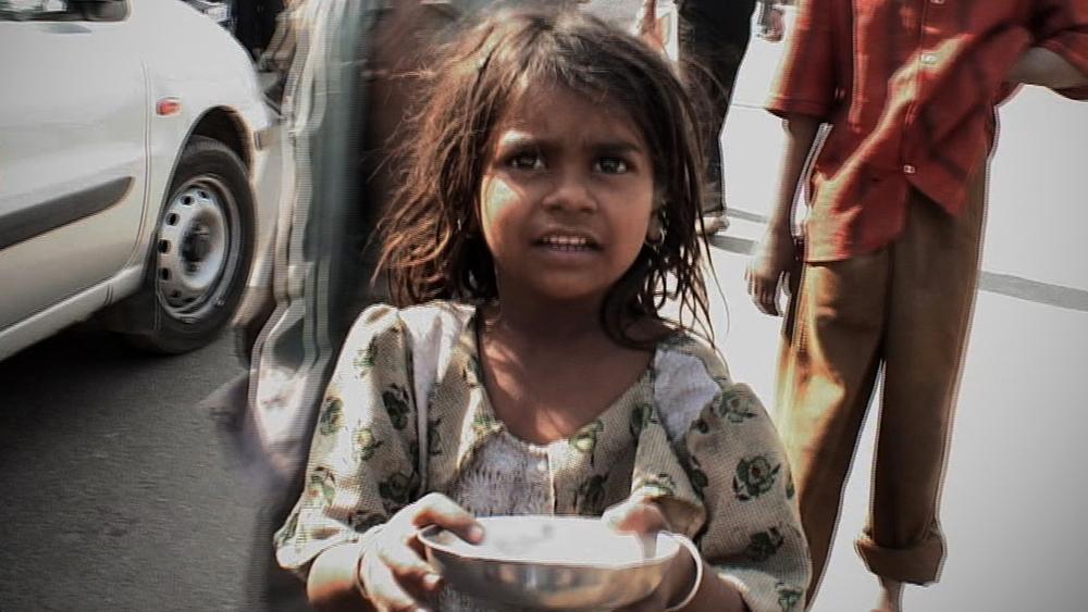 children begging