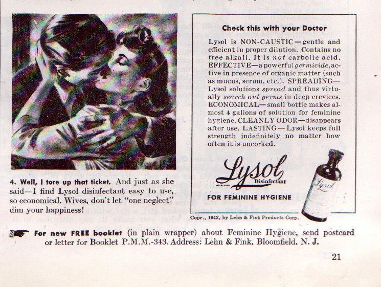 Lysol - Birth Control
