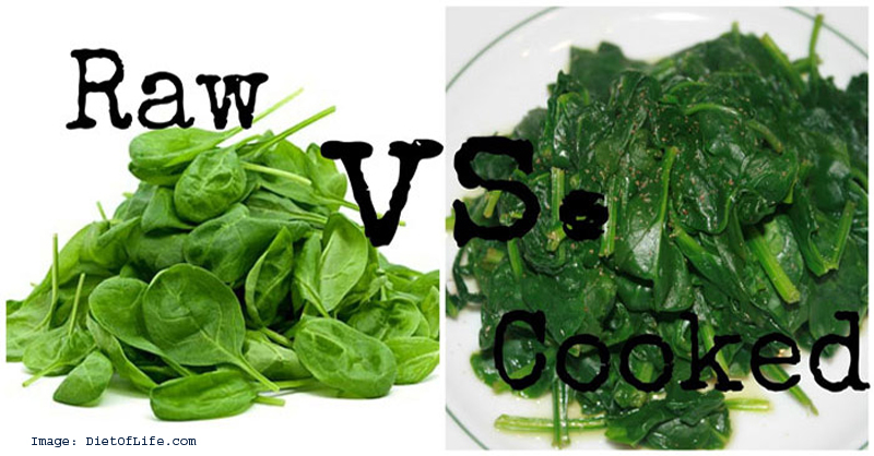 Raw vegetables vs cooked