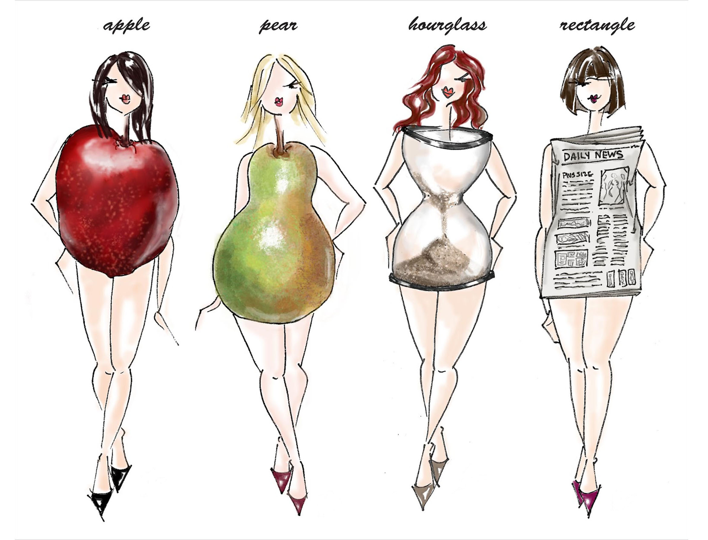 Image Result For Different Body Shapes For Women